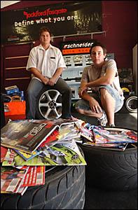 Kustom Dreams proprietors Nathan Hampshire, left, and Luke Weatherley.