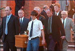 Mourners farewell popular Grafton doctor Carel van Gend after his funeral service at Christ Church Cathedral yesterday.