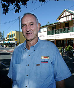 CHAMPIONING the cause of Kingscliff business: new chamber of commerce president Des Ireland in the heart of the town which he a