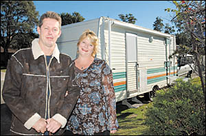Motor neurone sufferer Steve Buckley and his wife, Sharon, have just returned from a trip around Australia.