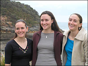 The Lawrence sisters, from left, Rosalyn, Jacqui and Kate.