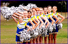 The Port City Power cheerleading team.