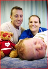 Jason and Sheridan Driscoll lost their first son to SIDS when he was only 10 weeks old. Picture: KATIE FINN