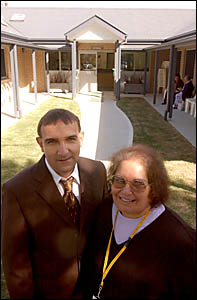 Incoming CEO at the Aboriginal Medical Centre in Grafton, Scott Monaghan, left, and outgoing CEO Gloria Strachan.