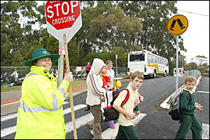 Toormina students will today hear Crossing Supervisor for the past eight years, Denise Hudacek, say the magic words ?come acros