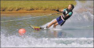 Coffs Harbour?s Jacinta Clegg is showing tremendous potential in water skiing.