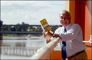 RACINGAWAY:Clarence River Jockey Club chairman Bob Pavitt launches the 2005 July Racing Carnival yesterday at the South Grafto