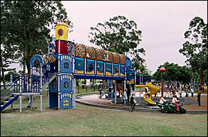 The Sophie Purcell Playground in Laguna Park, Palm Beach, named in 1999 in memory of an eight-year-old Palm Beach girl who die