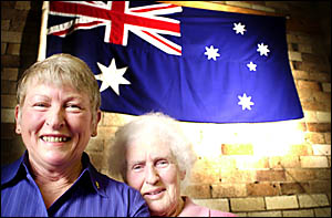 TOP SERVICE: Loma Graydon, left, of Lismore, and Helen Wynd, of Goonellabah, who received the Premier?s Award yesterday. Pictur