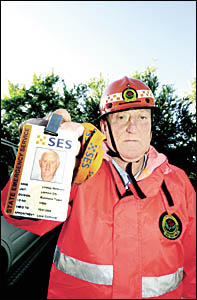 GENUINE ARTICLE: Lismore SES controller Lindsay Matterson shows an SES identification badge that all members should display on