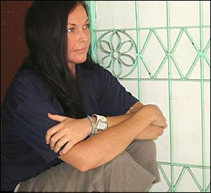 Schapelle Corby inside Kerobokan prison in Bali.
