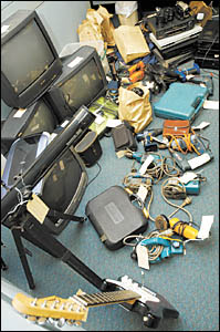 Huge haul . . . police have made a breakthrough into what they describe as alleged drug activity in Bellingen?s CBD.