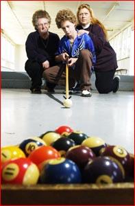 Lorraine Mann, Anthony Mann and Julie Reck. Picture: KATIE FINN