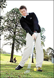 Coffs Harbour?s Adam Wood gets in some practice for the NSW PGA Traineeship Championships here next week.