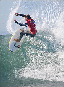 COOLANGATTA surfer Dean Morrison carves his way down the line in the second round of the WCT event at Jeffreys Bay.