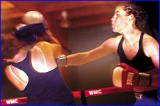 Gladstone?s Leonie Macks punches Brisbane competitor Bridget Woods