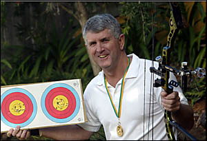 DEADLY shot Greg Jans of Banora Point has proved to be Australia?s premier indoor archer after winning the national compound ti