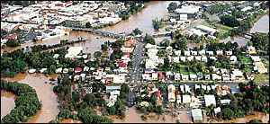 FLOOD FINDINGS: An aerial photograph of Lismore taken during the recent flooding. The Lismore City Council has just completed a