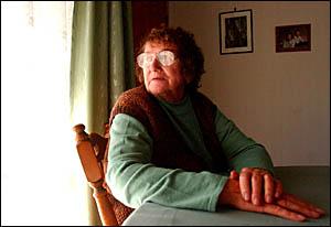June Bradbeer, whose husband Roy Alan Bradbeer went missing last week, at their Yamba home yesterday.