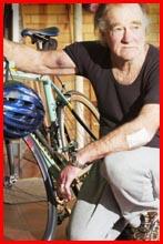 Cyclist David Stone. Picture: KATIE FINN