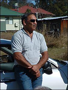 Former Baryulgil resident Tony Mundine at Saturday?s meeting.