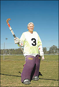 Beryl Bracken will be the oldest Coffs Harbour player contesting the Hockey NSW women?s veterans titles over the next three day