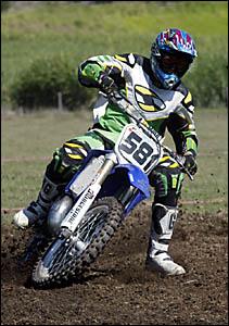 Motocross action.