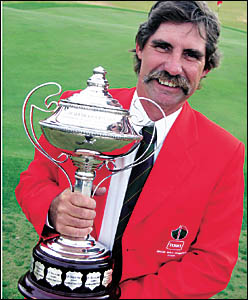 Sawtell Golf Club golf course superintendent Trevor Ridge ... successfully defended the title he won in 2004.