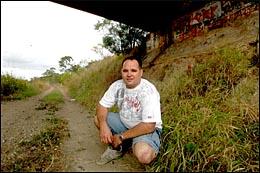 Kris Hodgson slept under bridges to survive being homeless in Gladstone.