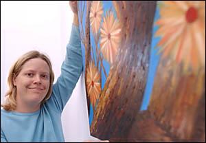 Kate Bender, who has work on display at the Grafton Regional Gallery, believes in the healing power of art.