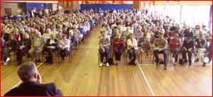 More than 500 residents at  Saturday?s  meeting. Picture: KEVIN FARMER