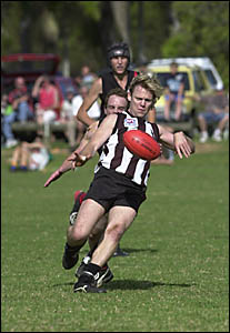 FLASHBACK: This time last year and Byron Bay?s Graham Hayworth takes on Ballina in the SAFL final.