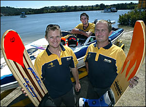 RIVER racers the Vee Ate ski team of Nathan Walker, Zane Holmes and Tim Gates will be amongst the 45 entrants in the increasing