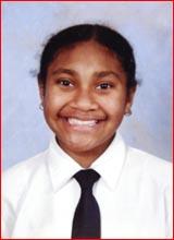 Orphaned 13-year-old Tasminnie Tavari. Picture supplied
