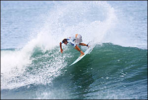 TRYING HARD: Yamba surfer Daniel Ross is making progress in his bid to surf with the world?s elite.