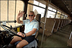 Bus driver Norm Kane retired yesterday after 37 years driving the Casino to Grafton route