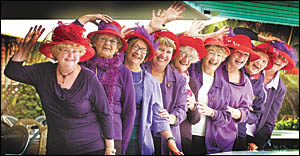 Jenny Joseph?s poem, Warning, was the brainchild behind Coffs Harbour?s Red Hat Society, and it appears after three years its f