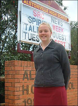TOP POET: Alstonville High School student Emma Hannam won the Secondary Senior Section of the national Dorothea Mackellar Poetr