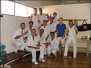 HIGH ON EXPERIENCE:The Southern Districts team celebrates its Far North Coast LJHooker League cricket premiership last season.