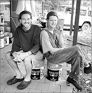Benny Glassman, left, and Rohan Stewart