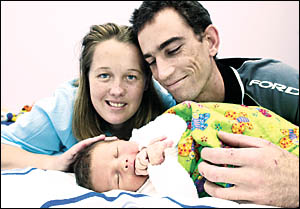 SURPRISE: Oliver Leslie Webb was an unexpected delivery for his mum, Ammie Doyle, and dad, Steve Webb, of Lismore. They found o