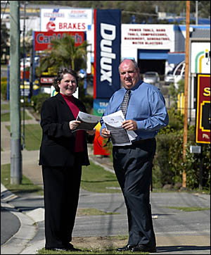 ADVANCING BURLEIGH: Chair of the Burleigh Business Week and Burleigh Business Awards, Michael Hart, and project manager Jo Eady