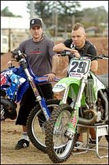 risbane Freestyle rider Chris Thomsen (left) and pro-rider Luke Nelson a