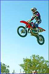 Jacob Wright competes in the nine - 11 years 85cc event at the Stadium Motocross on Saturday night.