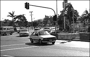 Traffic at the Bray Street intersection should flow more quickly from today when the new left-turn lane opens.