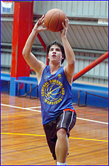 Andrew Lynch has eyes only on the basketball at last week?s Port City Power trials.