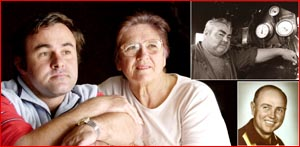 Jaimie Wilson lost his father to asbestos and Glenda Mehonoshen her husband.  Picture: BEV LACEY