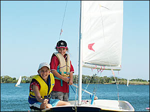 FAMILY FUN: A day on the river with the Big River Sailing Club is fun for everyone.