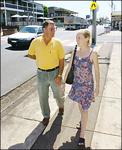 John Dockrill and Katie Martin are both the victims of accidents in Alstonville they believe may have been prevented by a bypas