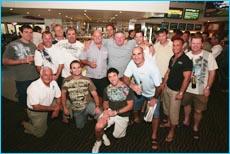 The 1995 Maroon State of Origin team at Mooloolaba